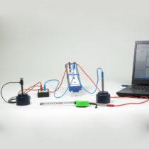 Kompletny zestaw eksperymentalny: Ultradźwiękowy efekt Dopplera z interfejsem Cobra4