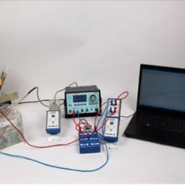 Kompletny zestaw eksperymentalny Wpływ temperatury na opornosc roznych rezystorow i diod przy wykorzystaniu Cobra 4