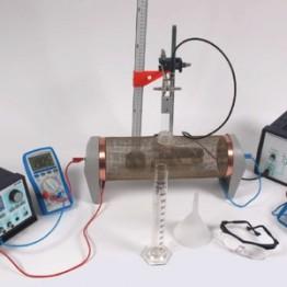 Kompletny zestaw eksperymentalny Pole magnetyczne wewnatrz przewodnika przy wykorzystaniu cyfrowego generatora funkcji
