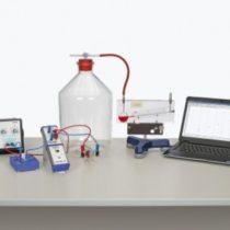 Kompletny zestaw eksperymentalny: Pojemność cieplna gazów z Cobra4