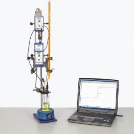 Kompletny zestaw eksperymentalny Miareczkowanie wolumetryczne redoks: Cerometria (z Cobra4)