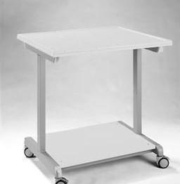 Mobile stanowisko eksperymentalne 90 x 75 cm, blat gr.30 mm obramówka z PP, z przyłączem pompy próźniowej