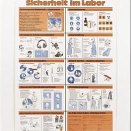 Tablica Bezpieczeństwo w laboratorium