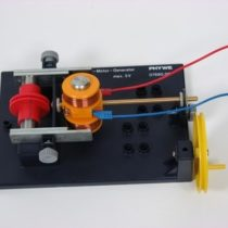 Kompletny zestaw eksperymentalny: Przemiana energii elektrycznej w energię kinetyczną