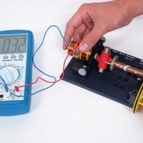 Kompletny zestaw eksperymentalny: Indukcja elektromagnetyczna