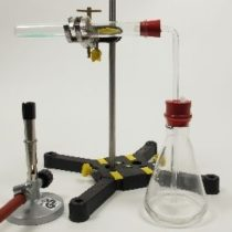 Kompletny zestaw eksperymentalny: Wytwarzanie i własności kwasu siarkowego (VI)