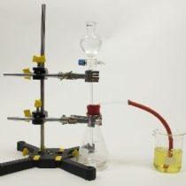 Kompletny zestaw eksperymentalny: Wytwarzanie i własności kwasu węglowego
