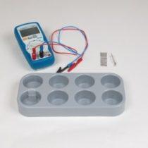 Kompletny zestaw eksperymentalny: Elektroda porównawcza chlorek srebra/srebro