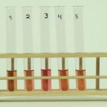 Kompletny zestaw eksperymentalny: Oddziaływanie kwasów na wskaźniki