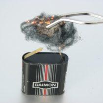Kompletny zestaw eksperymentalny: Spalanie żelaza