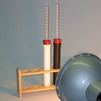 Kompletny zestaw eksperymentalny: Absorpcja promieniowania cieplnego (światło)