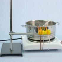 Kompletny zestaw eksperymentalny: Przewodzenie ciepła przez szkło i metale