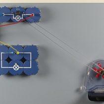 Kompletny zestaw eksperymentalny: Bieżąca wodą napędza generator - wyznaczanie mocy