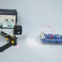 Kompletny zestaw eksperymentalny: Zasilanie diody LED ogniwem słonecznym