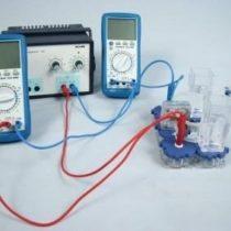 Kompletny zestaw eksperymentalny: Charakterystyka elektrolizera PEM