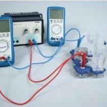 Kompletny zestaw eksperymentalny: Sprawność Faraday'a i sprawność energetyczna elektrolizera PEM