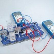 Kompletny zestaw eksperymentalny: Charakterystyka prądowo-napięciowa ogniwa paliwowego PEM