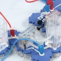 Kompletny zestaw eksperymentalny: Charakterystyka prądowo-napięciowa ogniwa paliwowego (powietrze, zamiast tlenu)