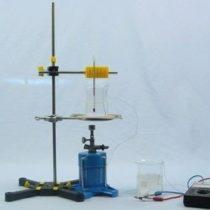 Kompletny zestaw eksperymentalny: Pomiar temperatury za pomocą termopary