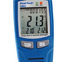 2-Kanałowy rejestrator temperatury i wilgotności powietrza, złącze USB