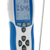 Różnicowy miernik ciśnienia, 0… 50 mbar, z pomiarem prędkości powietrza, złącze USB